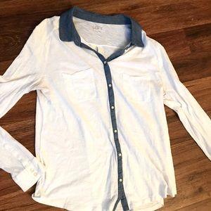 LOFT Button Up Comfy TShirt